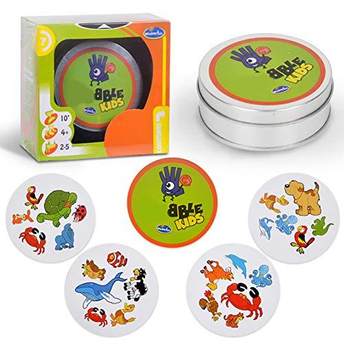 joizo 1 Stücke Kartenspiele Partern-Kind-Spielzeug-pädagogisches Spielzeug für Kinder (grün Tier)