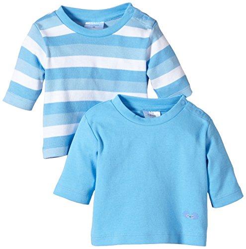 Twins Baby - Jungen Langarmshirt im 2er Pack, Gr. 92, blau (16-4132 - little boy blue)