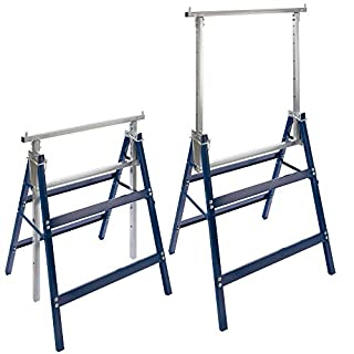 2x Arebos Telescopic Trestle Builders / height-adjustable 32 - 51 in (81 - 130 cm) / 2 x 441 lbs (200 kg) load capacity / space-saving