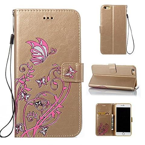 iPhone 6/6s Hülle Case, COZY HUT LederHülle Leder Tasche Case