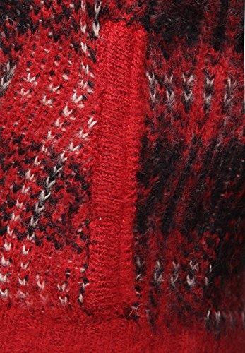 khujo - Gilet - À Carreaux - Manches Longues - Femme Rouge - mehrfarbig (CH60 RED)