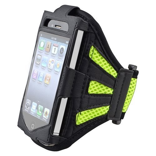 eastchina® New Fashion Style hohe Qualität EaseFit Neopren Laufen Joggen Sport Gym Running Arm Armband Schweißfest Wasserdichte Schutzhülle Schützen Halterung für Samsung Galaxy S5 SV (AT & T, T-Mobile, Sprint, Verizon)/S4 SIV i9500 (AT & T, T-Mobile, Sprint, Verizon)/S3 SIV i9300 (AT & T, T-Mobile, Sprint, Verizon), iPhone 5, iPhone 5S, iPhone 6 und iPhone 6 Plus, Ipod Touch 4 G, iPod Touch 5. Generation, iPhone 6, iPhone 6 Plus, Grün/Schwarz, For Sumsung S3/S4/S5 (Ipod Running Sleeve)