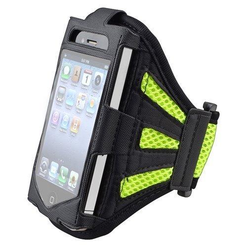 eastchina® New Fashion Style hohe Qualität EaseFit Neopren Laufen Joggen Sport Gym Running Arm Armband Schweißfest Wasserdichte Schutzhülle Schützen Halterung für Samsung Galaxy S5SV (AT & T, T-Mobile, Sprint, Verizon)/S4SIV i9500(AT & T, T-Mobile, Sprint, Verizon)/S3SIV i9300(AT & T, T-Mobile, Sprint, Verizon), iPhone 5, iPhone 5S, iPhone 6und iPhone 6Plus, Ipod Touch 4G, iPod Touch 5. Generation, iPhone 6, iPhone 6Plus, Grün/Schwarz, For Sumsung S3/S4/S5 (Ipod Running Sleeve)