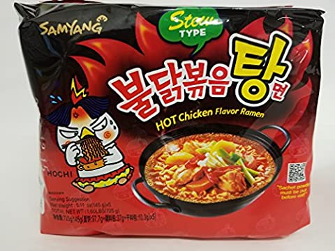 Samyang Hot Chicken Flavor Ramen Stew Type (Soup) 145g (Pack of 5)