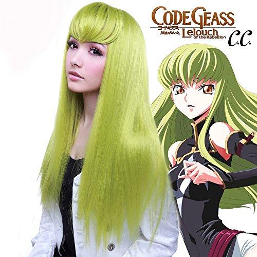 Rockstar Perücken Charakter C.C. von Code Geass (Chartreuse) Lime Grün