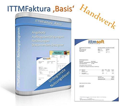 ITTMFaktura Basis Handwerk - Rechnungsprogramm / einfach und schnell Angebote / Aufträge / Brutto- und Netto-Rechnungen schreiben