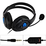 Dual großen Ohr verdrahtete Spiel Chat Headset Kopfhörer Mikrofon für Sony Playstation 4 PS4 Schwarz