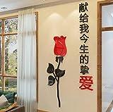 Wandaufkleber hause kreative persönlichkeit hintergrund wanddekorationen aufkleber wohnzimmer schlafzimmer 3d acryl stereo wandaufkleber, breite 60 * höhe 120 cm