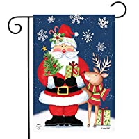 "Briarwood Lane Christmas Delivery Garden Flag Santa Claus Reindeer 12.5"" x 18"""