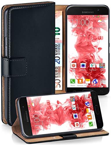 moex® Booklet mit Flip Funktion [360 Grad Voll-Schutz] für Samsung Galaxy A5 (2017)   Geldfach und Kartenfach + Stand-Funktion und Magnet-Verschluss, Schwarz