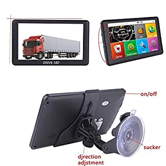 5-Zoll-Navigationsgert-DRIVE-5BT-Fr-LKW-PKW-BusWOHNMOBIL-und-Camper-Radarwarner-Kostenlos-Map-Update-Bluetooth-AV-IN-INKL-Drahtlose-Rckfahrkamera-und-TMCTMC-PRO-Kostenlose-Karten-Updates