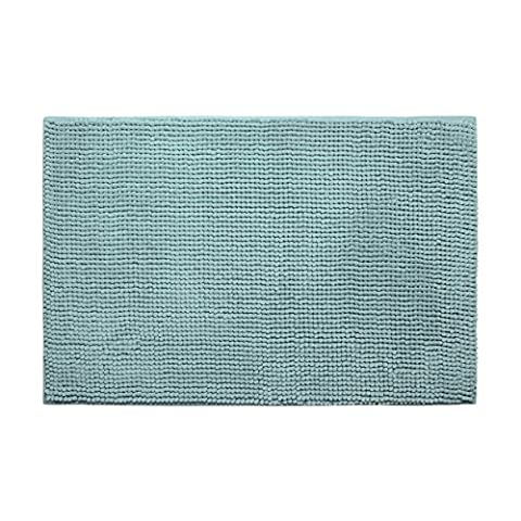 Bounce Comfort Plush Memory Foam Chenille Bath Mat with Bounce Comfort Technology, 20 x 30-Inch, Aqua
