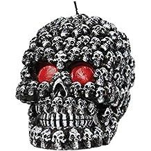 Totenkopf Kerze Dekokerze Skull schwarz oder gold 11x9 cm Kerzen Totenschädel