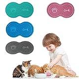 CHY Accessori per animali domestici Cucciolo di cane Cucciolo di gatto Tappetino per alimenti Ciotola per piatti in PVC Cibo Acqua Tovaglietta per animali domestici pulita - Verde