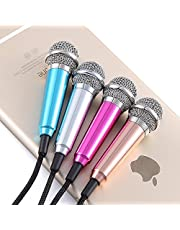Ascension ® Smart phone Mini 3.5mm Pocket Size Microphone For PC Mobile Mini microphone Android iPhone mobile phone computer mobile phone sing karaoke (Color may vary)