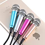 #2: Ascension ® Smart phone Mini 3.5mm Pocket Size Microphone For PC Mobile Mini microphone Android iPhone mobile phone computer mobile phone sing karaoke (Color may vary)