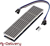 AZDelivery MAX7219 8x32 4 in 1 Dot Matrix LED Anzeigemodul für Arduino mit gratis eBook!