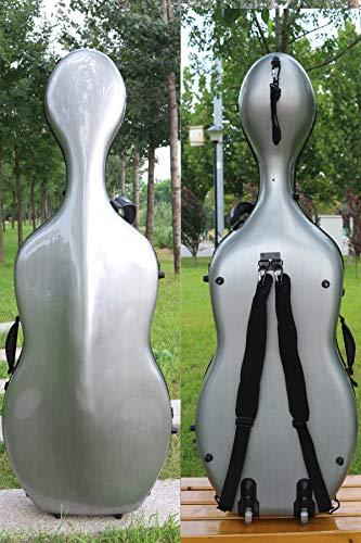 Custodia per violoncello 4/4 in fibra di carbonio mista, custodia rigida, resistente e leggera, 4,5 kg, supporta 300 kg di pressione N-5923 C