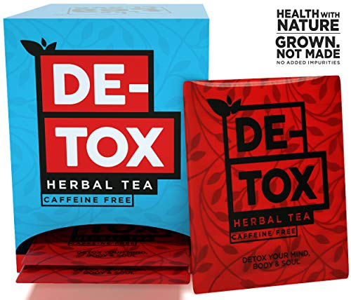 The Tea Trove Detox Tea for Weight Loss and Belly Fat and Skin Glow with Traditional Ayurvedic Herbs | Steep as Hot Herbal Weight Loss Tea or Iced for Cleanse | Caffeine Free (20 Bags+ 1 Bag Free)