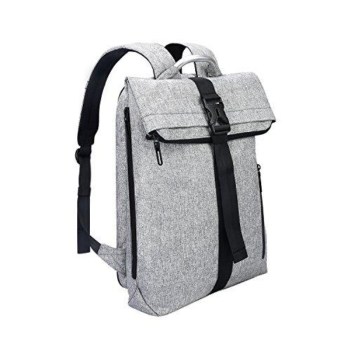 REYLEO Rucksack Herren Und Damen Daypack Sporttasche für Laptop 15.6 Zoll mit unabhängigem Fach und erweiterter Kapazität Beutel Tasche Mode Wasserdichtes Grau (Damen-schulter-laptop-tasche)
