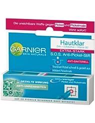 Garnier Hautklar S.O.S. Anti-Pickel-Stift, gezielte Soforthilfe gegen Pickel, anti-bakteriell, mildert Pickelmale, transparent, 3er Pack (3 x 10 ml)
