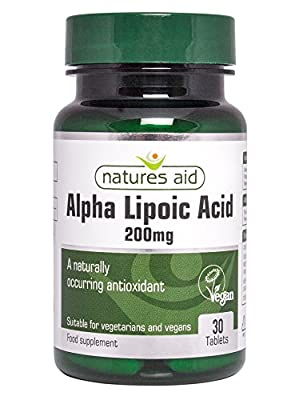 Natures Aid 200mg Alpha Lipoic Acid - Pack of 30 Tablets