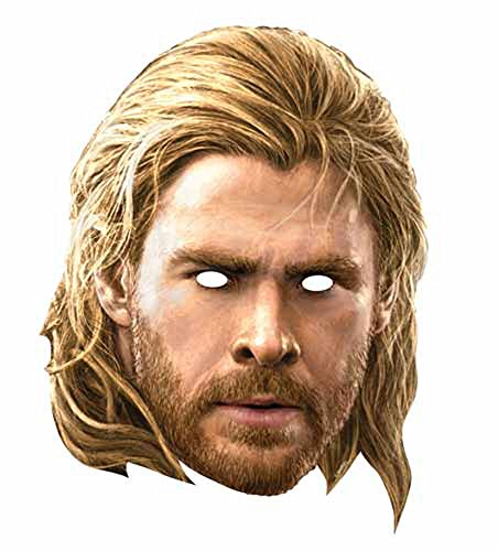 The Avengers - Thor Papp Maske, aus hochwertigem Glanzkarton mit Augenlöchern, Gummiband - Größe ca. 30x20 (Thor Herren Kostüme)