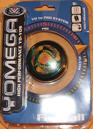 Yomega High Performance Yo-Yos -Rookie to ProSystem Fireball-Green, Blue and Black Available by Yomega