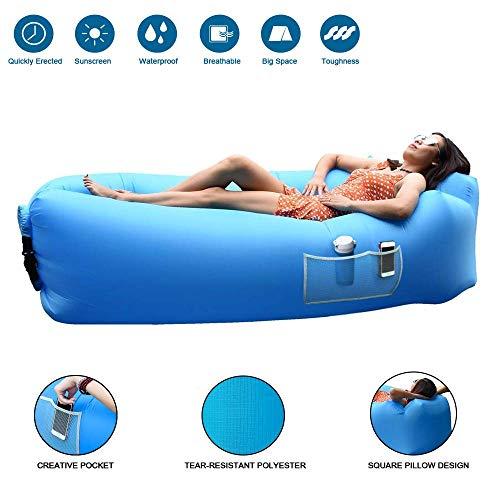 Jourlove divano ad aria,divano gonfiabile divano con cuscino integrato e custodia, portatile leggero impermeabile poliestere aria divano gonfiabile lounger,gonfiabile spiaggia, materassino gonfiabile