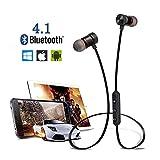 Pikeman Wireless Sports Bluetooth V4.1 Écouteurs stéréo intra-auriculaires Écouteurs Écouteurs Ecouteurs sans fil avec microphone pour iPhone, Android Smartphones et autres Bluetooth (Or rose)