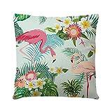 LUOEM Flamingo Überwurf Kissen Kissen quadratisch abdeckt, für Outdoor Sofa im Innenbereich Auto Wohnzimmer Kinderzimmer