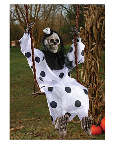 Halloween Skelett Zirkus Clown Geist auf der Schaukel für Grusel (Halloween Clown Geist)