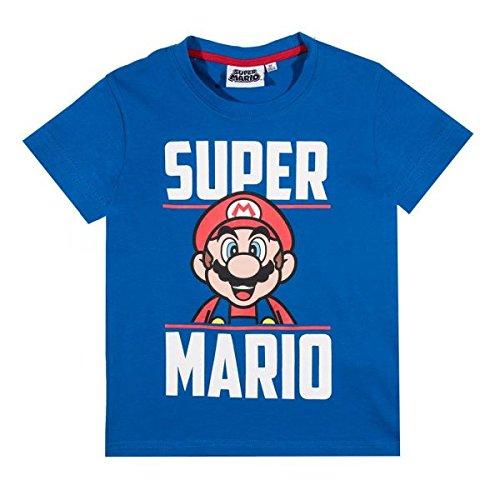 Super Mario Bros Ragazzi Maglietta manica corta - blu - 128