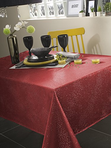 CALITEX TDX4319371B Electra Nappe Polyester Rouge 350 x 150 cm