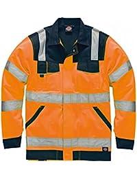 "Dickies SA30015 ORNL Size Large ""Industrie"" Hi-Vis Jacket - Orange/Navy Blue"