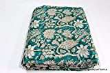 #6: 2.5 Meter 44'' width Indian Natural Cotton Voile Hand Block Print Running Sewing Fabric by Meter