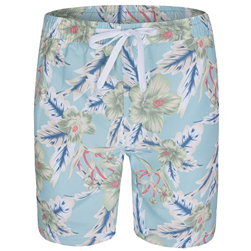 Soul Star imprimé Floral Short de bain pour homme Bleu - Bleu