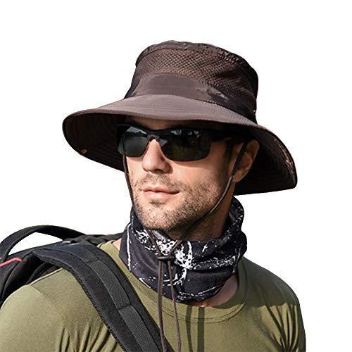 rren UV Schutz Safari Hut Sommer Outdoor Fischerhut Buschhüte ()