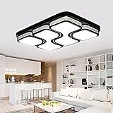 MYHOO 78W LED Deckenleuchte Deckenlampe Modern Design Schlafzimmer Küche Flur Wohnzimmer Lampe Wandleuchte Energie Sparen Licht Kaltweiß(6000-6500K)[Energieklasse A++]