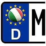 3 x Kennzeichen-Aufkleber Ball ITALIEN Flagge KFZ Motorrad FanShirts4u ITALIA