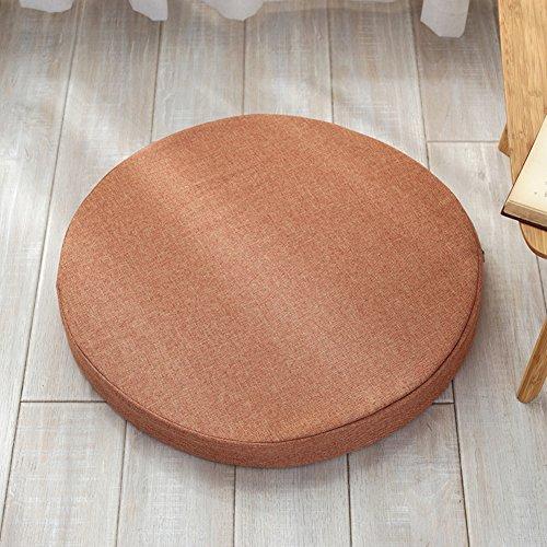 WWBB High-Density Sponge pad,Rundes Kissen,Erker-Kissen Sofa dämpfung,Rattan Kissen Yoga-Matte,Aus Stoff Dicker-E VersionB 40cm(16inch) -