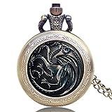 Reloj de Bolsillo único, diseño de Game of Thrones US TV Series con temática de Reloj de Bolsillo para Hombres y Mujeres, Reloj de Bolsillo conmemorativo Regalo