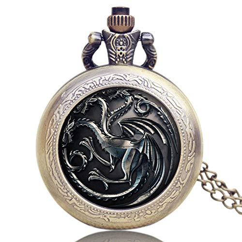 (Einzigartige Taschenuhr, Game of Thrones US TV-Serie Themen-Taschenuhr für Männer und Frauen, Gedenk-Taschenuhr Geschenk)
