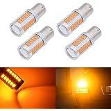 Katur 10pcs 1157BAY15D 563033-smd Ambre 900lumens 8000K Super Bright LED les feux stop Signal ampoule lampe 12V 3.6W