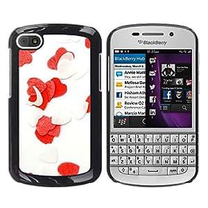 TORNADOCOVER Unico Immagine Rigida Custodia Case Cover Protezione Per SMARTPHONE BlackBerry Q10 - amore il cuore dei fiori