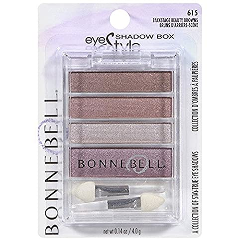 Bonne Bell Eye Style Shadow Box, Backstage Beauty Browns - 1 Ea, 2 pack