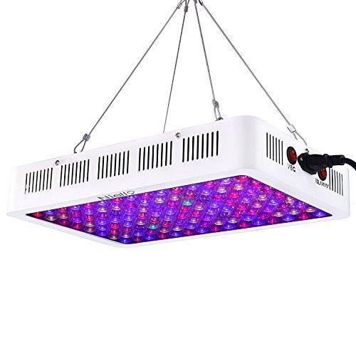 Optical Lens-Series LED Pflanzenlampe ,Niello® 600W Full Spectrum Wachsen Licht mit Allen 12 Frequenzbändern und 120 Stück 5 Watt LEDs Wachstumslampe Pflanzenlicht oder Hydrokulturen für Zimmerpflanzen Gemüse und Blumen 411*267*65mm 600w Led