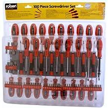 Rolson 28890 - Juego de destornilladores y puntas (100 piezas)