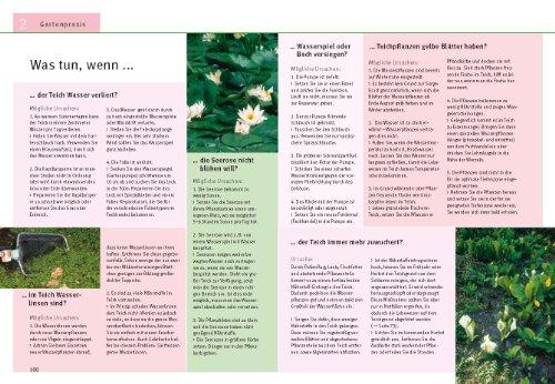 Gartenteiche anlegen und gestalten: Schritt für Schritt zum eigenen Wassergarten - Blick ins Buch