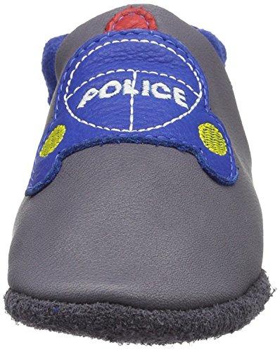 Pololo Baby Jungen Polizei Krabbelschuhe Grau (Grau)
